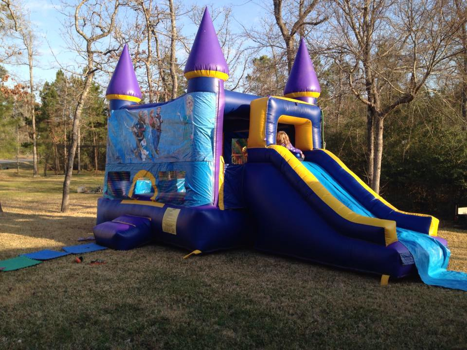 frozen bounce house woodlands